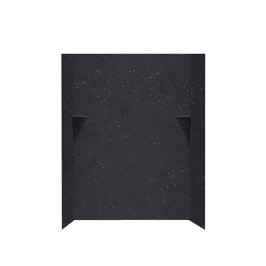 Swanstone Crystal Black Shower Wall Surround Side and Back Walls (Common: 48-in x 36-in; Actual: 72-in x 48-in x 36-in)
