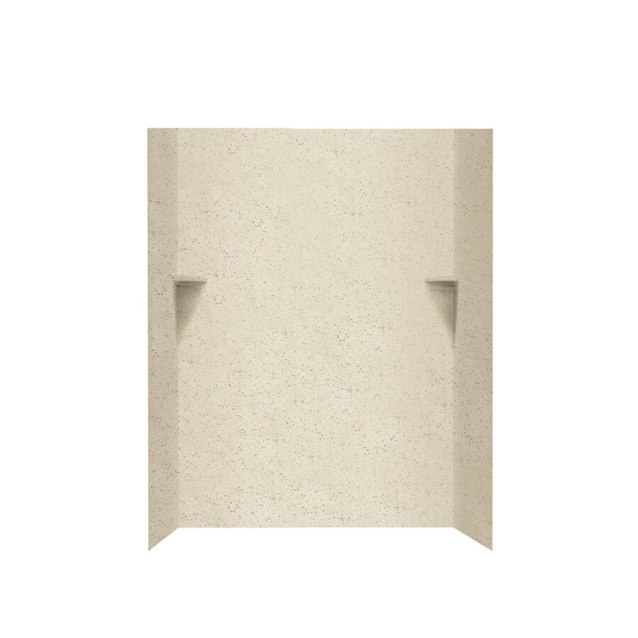 Swanstone Ivory Glass Shower Wall Surround Side and Back Walls (Common: 48-in x 36-in; Actual: 72-in x 48-in x 36-in)