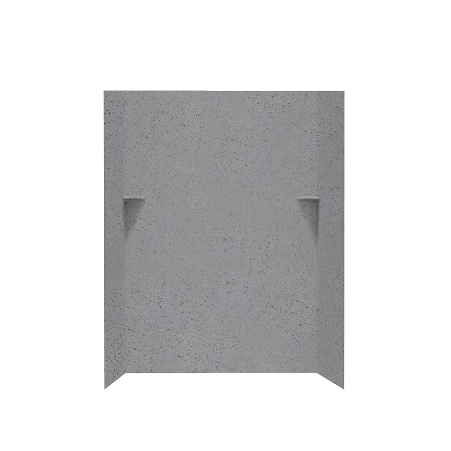 Swanstone Gray Glass Shower Wall Surround Side and Back Walls (Common: 48-in x 36-in; Actual: 72-in x 48-in x 36-in)