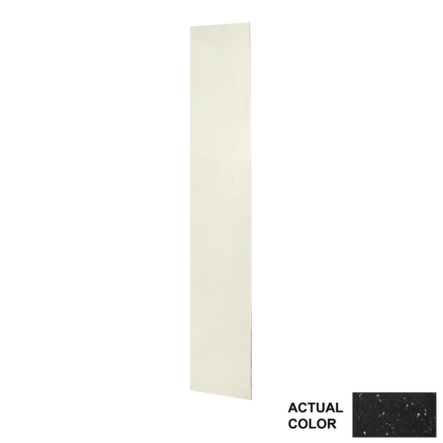 Swanstone Crystal Black Shower Wall Surround Back Wall Panel (Common: 0.25-in x 12-in; Actual: 72-in x 0.25-in x 12-in)