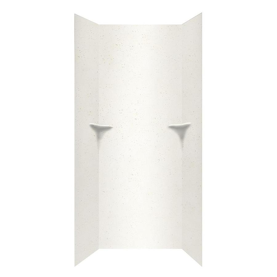 Swanstone Crystal White Shower Wall Surround Side and Back Wall Kit (Common: 36-in x 36-in; Actual: 96-in x 36-in x 36-in)