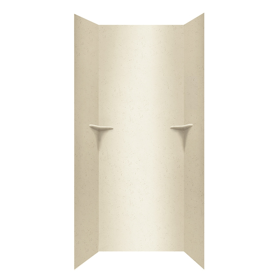 Swanstone Crystal Cream Shower Wall Surround Side and Back Walls (Common: 36-in x 36-in; Actual: 96-in x 36-in x 36-in)
