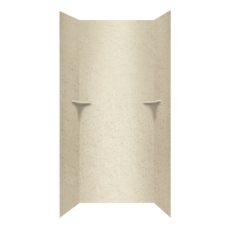 Swanstone Ivory Glass Shower Wall Surround Side And Back Wall Kit (Common: 36-in x 36-in; Actual: 96-in x 36-in x 36-in)
