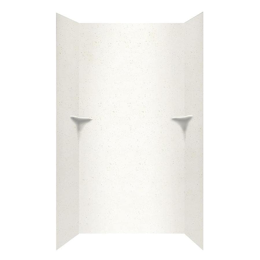Swanstone Crystal White Shower Wall Surround Side and Back Wall Kit (Common: 48-in x 36-in; Actual: 96-in x 48-in x 36-in)