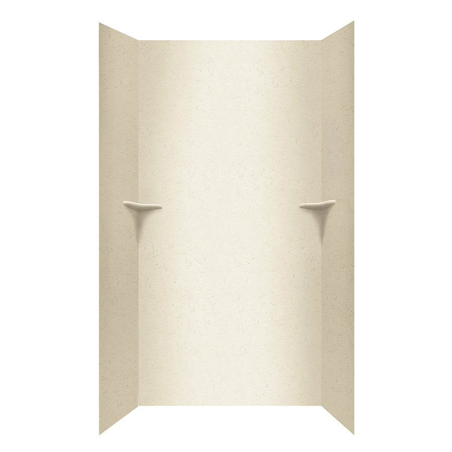 Swanstone Crystal Cream Shower Wall Surround Side And Back Wall Kit (Common: 48-in x 36-in; Actual: 96-in x 48-in x 36-in)