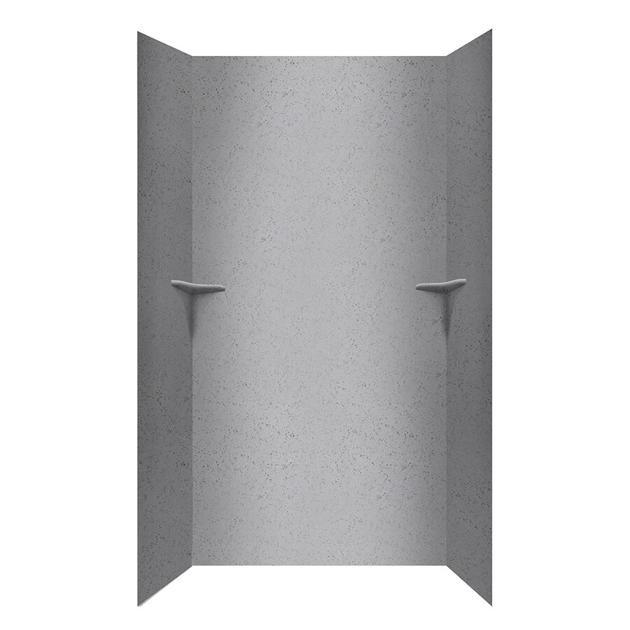 Swanstone Gray Glass Shower Wall Surround Side and Back Walls (Common: 48-in x 36-in; Actual: 96-in x 48-in x 36-in)