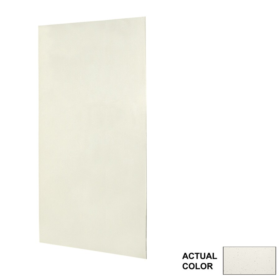 Swanstone Crystal White Shower Wall Surround Side Panel (Common: 0.25-in x 48-in; Actual: 96-in x 0.25-in x 48-in)