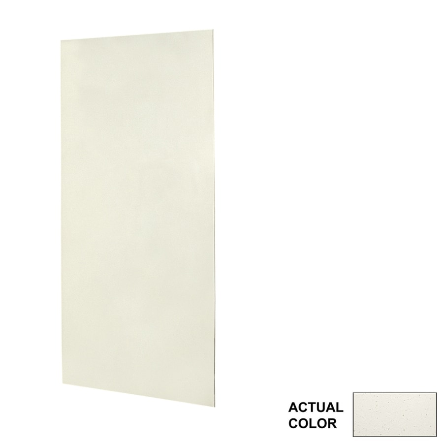 Swanstone Crystal White Shower Wall Surround Side Panel (Common: 0.25-in x 36-in; Actual: 96-in x 0.25-in x 36-in)
