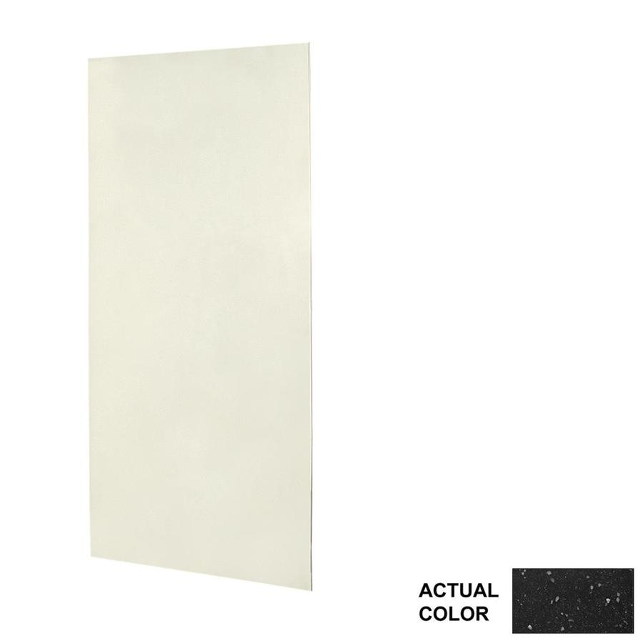 Swanstone Crystal Black Shower Wall Surround Side Panel (Common: 0.25-in x 36-in; Actual: 96-in x 0.25-in x 36-in)