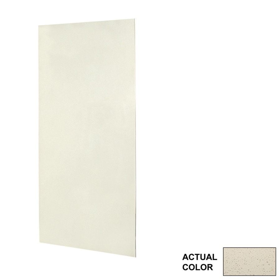 Swanstone Ivory Glass Shower Wall Surround Side Panel (Common: 0.25-in x 36-in; Actual: 96-in x 0.25-in x 36-in)