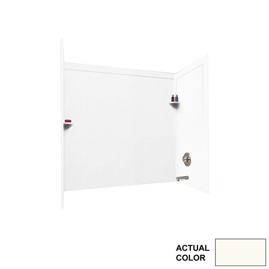 Swanstone Bright White Solid Surface Bathtub Wall Surround (Common: 33-in x 60-in; Actual: 60-in x 33.5000-in x 60-in)