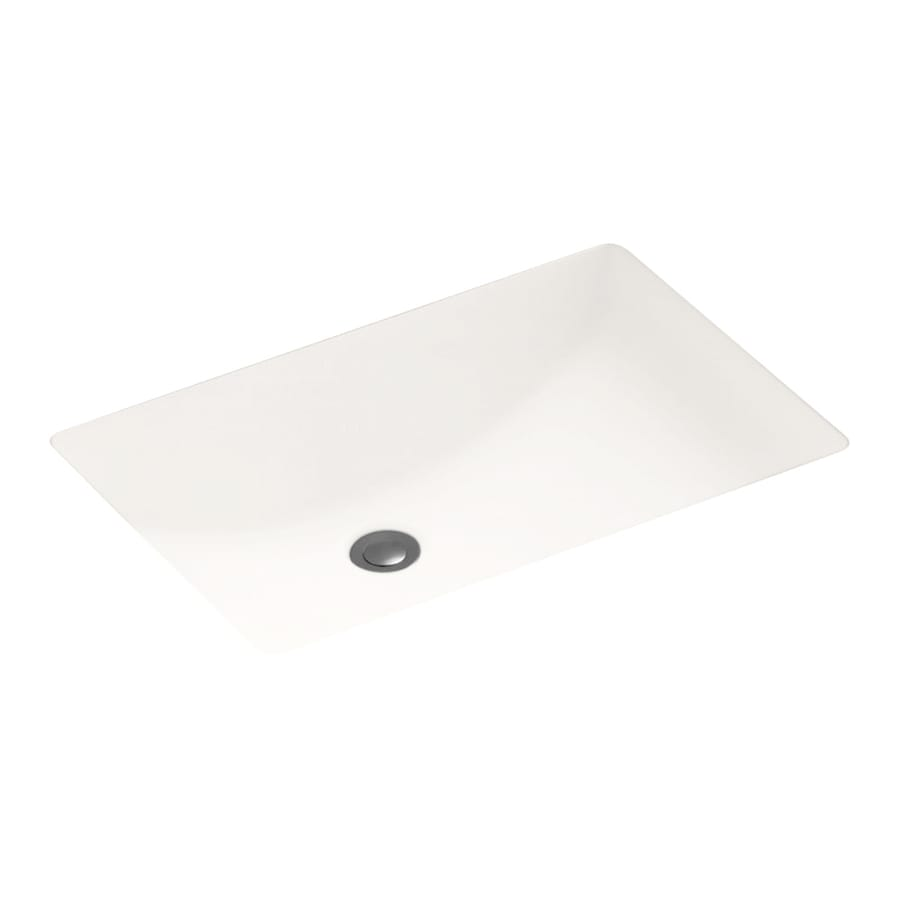 Solid Surface Bathroom Sink: Shop Swanstone Bright White Solid Surface Undermount