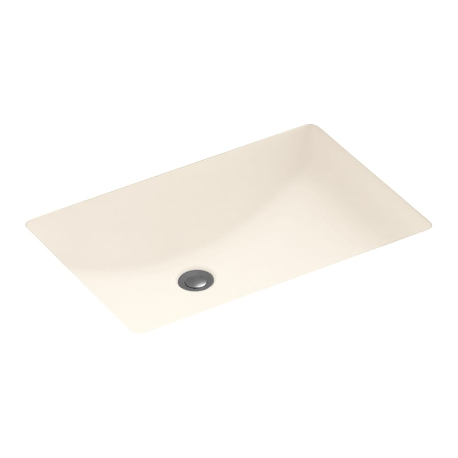 Swanstone Pearl Solid Surface Undermount Rectangular Bathroom Sink with Overflow