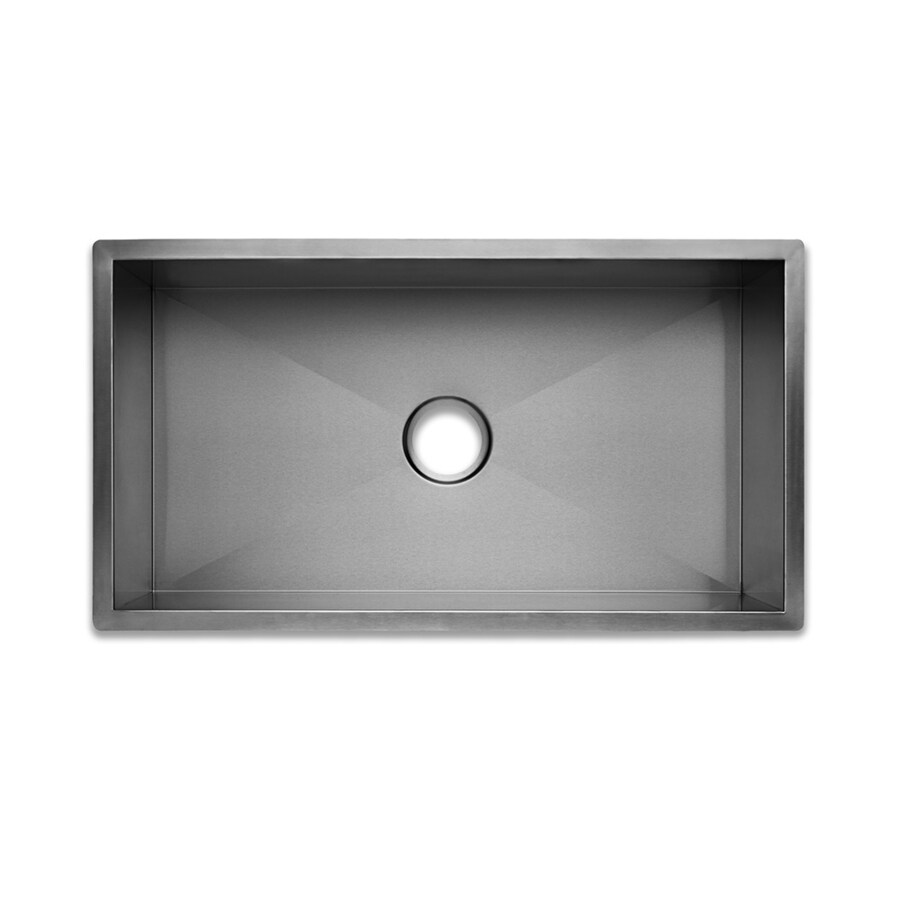 Swanstone 18-in x 33-in Brushed Satin Single-Basin-Basin Stainless Steel Undermount (Customizable)-Hole Residential Kitchen Sink