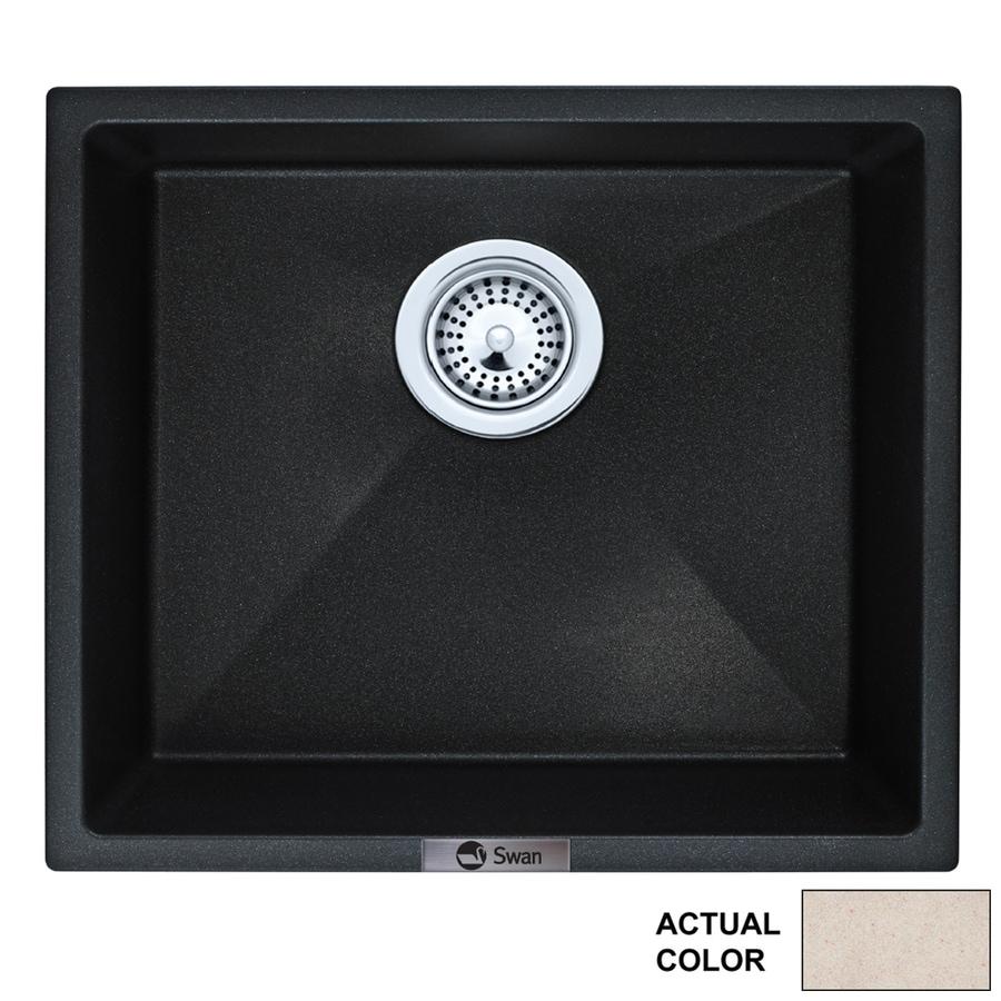 Swanstone 16-in x 18-in Granito Single-Basin Granite Drop-In Or Undermount Residential Kitchen Sink