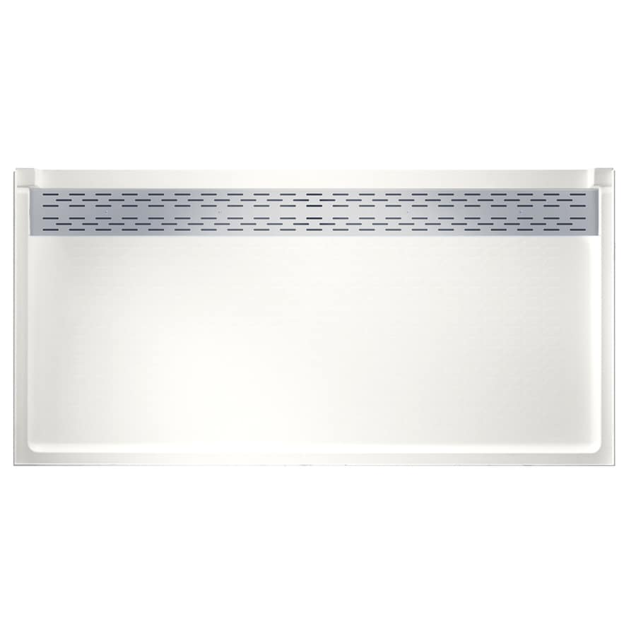 Swanstone Bright White Fiberglass and Plastic Shower Base (Common: 34-in W x 64-in L; Actual: 34-in W x 64-in L)