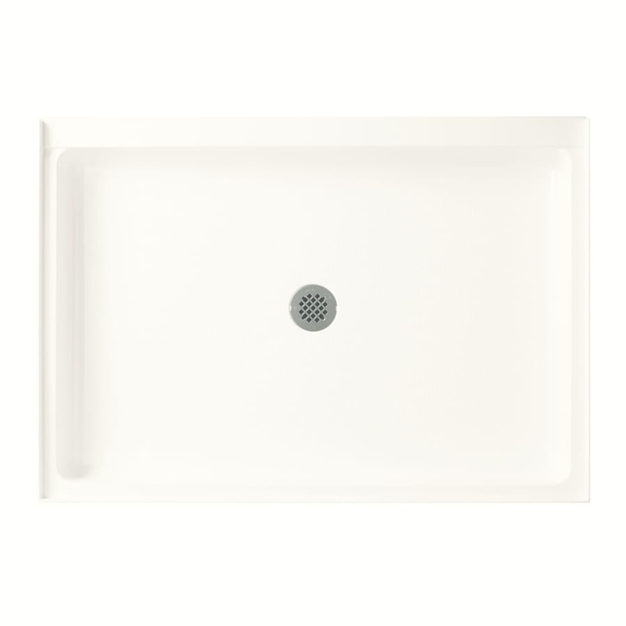 Swanstone Bright White Veritek Shower Base (Common: 34-in W x 48-in L; Actual: 34.1875-in W x 48.375-in L)