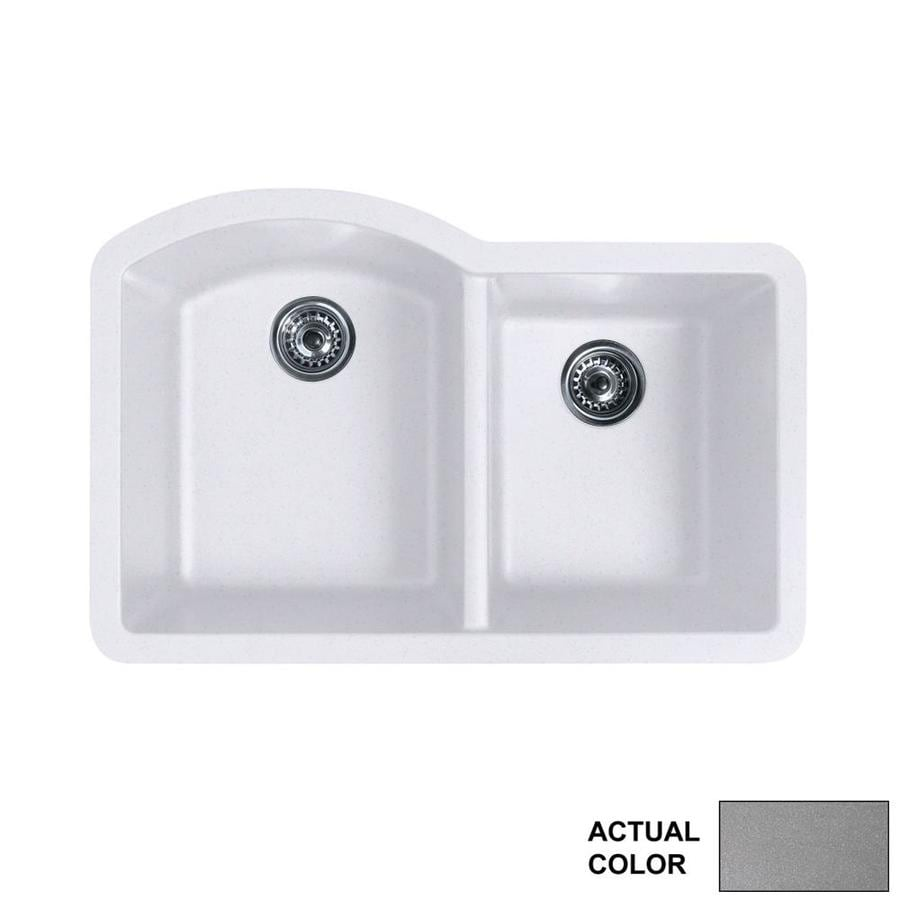 Shop swanstone x metallico double for Swanstone undermount sinks