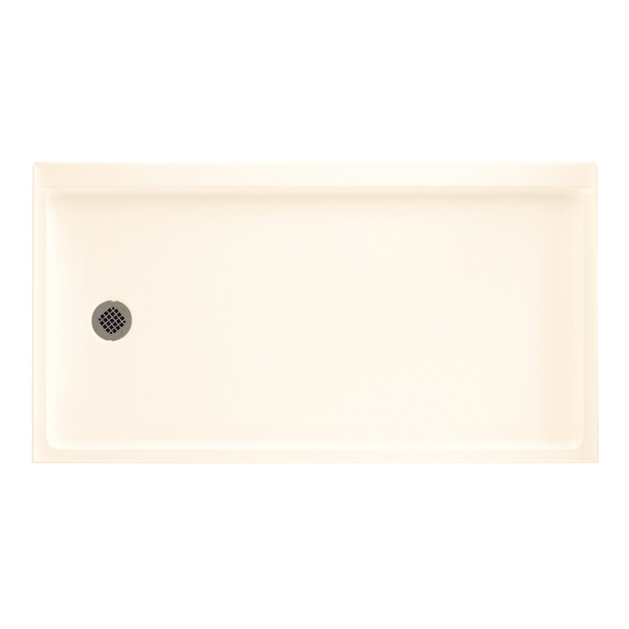 Swanstone Pearl Veritek Shower Base (Common: 30-in W x 60-in L; Actual: 30-in W x 60-in L) with Left Drain