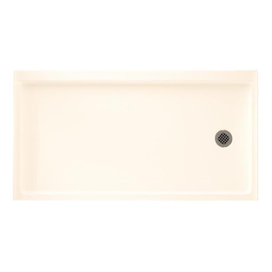 Swanstone Pearl Fiberglass and Plastic Shower Base (Common: 30-in W x 60-in L; Actual: 30-in W x 60-in L)