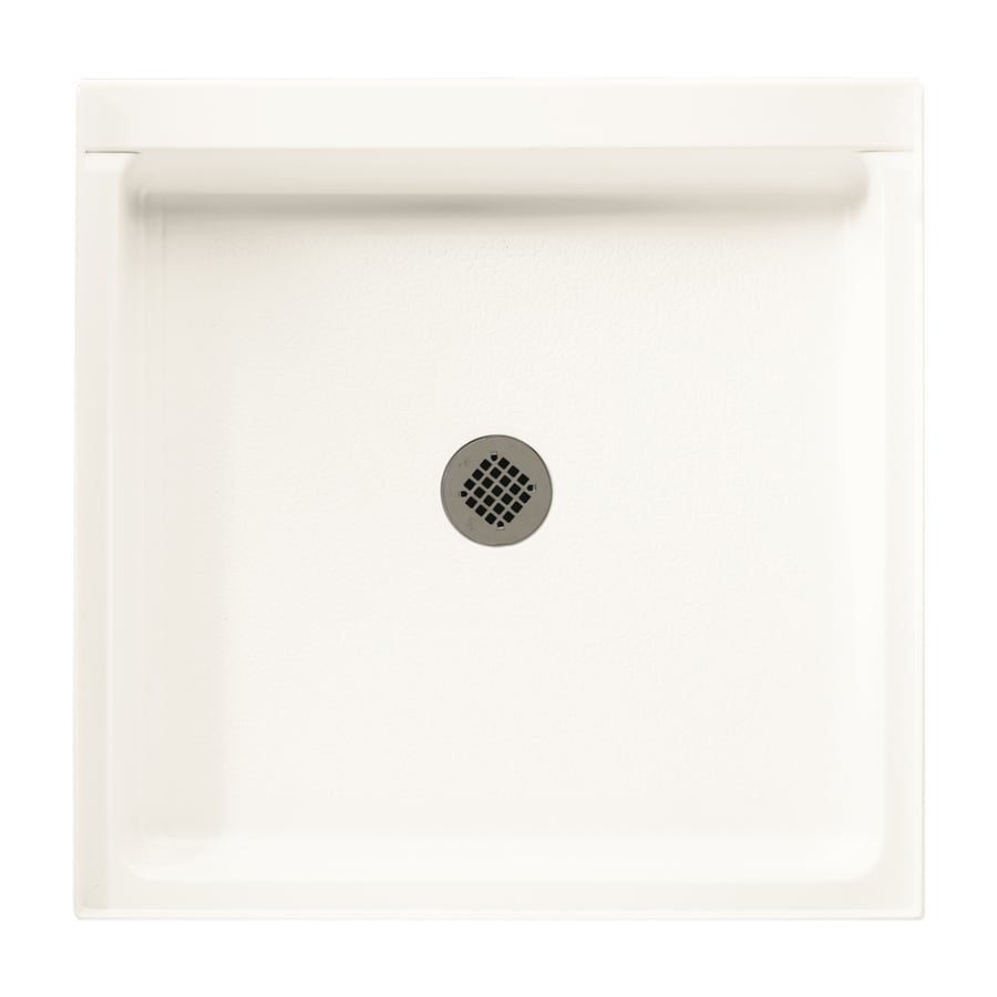 Swanstone Bright White Fiberglass and Plastic Shower Base (Common: 36-in W x 36-in L; Actual: 36-in W x 36-in L)
