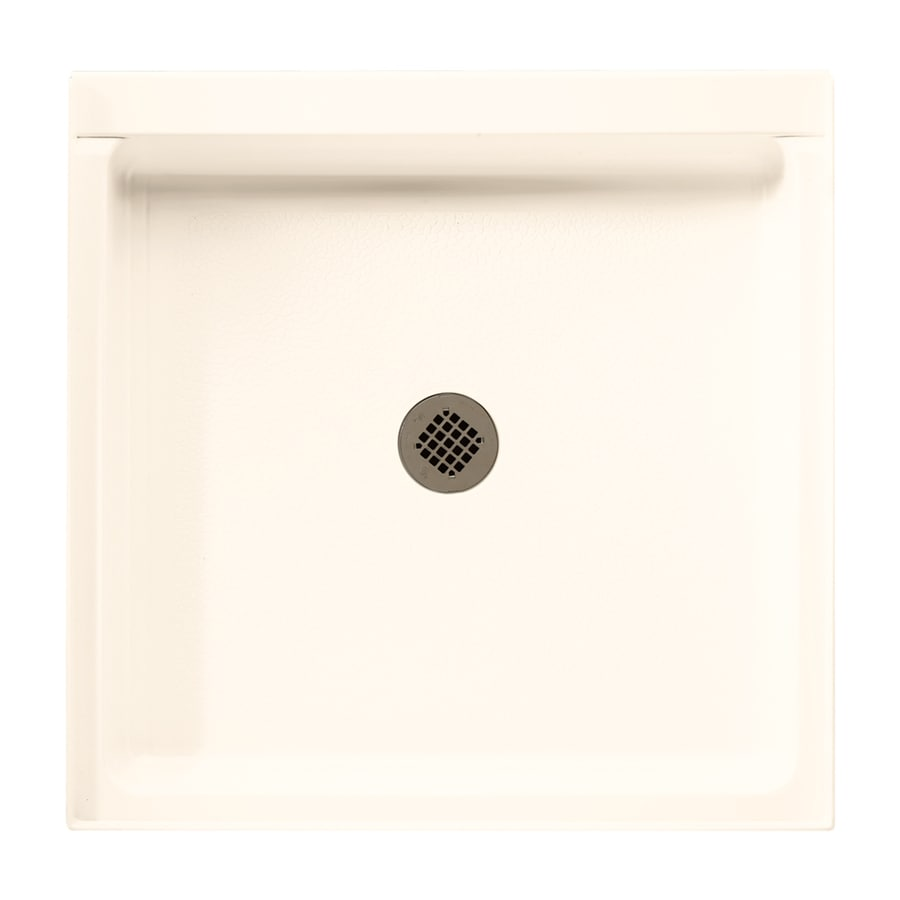 Swanstone Pearl Fiberglass and Plastic Shower Base (Common: 36-in W x 36-in L; Actual: 36.1875-in W x 36.375-in L)