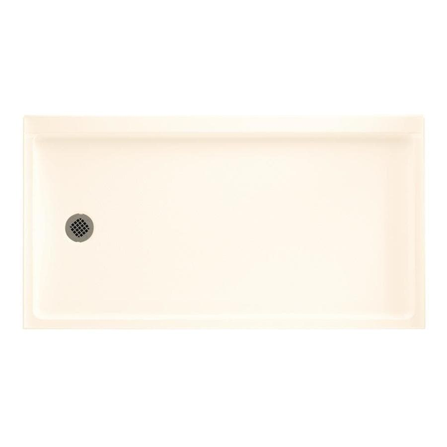 Swanstone Pearl Veritek Shower Base (Common: 32-in W x 60-in L; Actual: 32.1875-in W x 60.375-in L)
