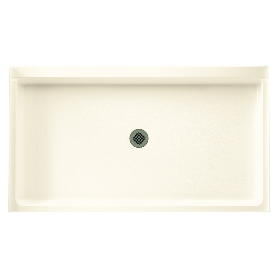 Swanstone Pearl Solid Surface Shower Base (Common: 34-in W x 54-in L; Actual: 34.1875-in W x 54.375-in L)