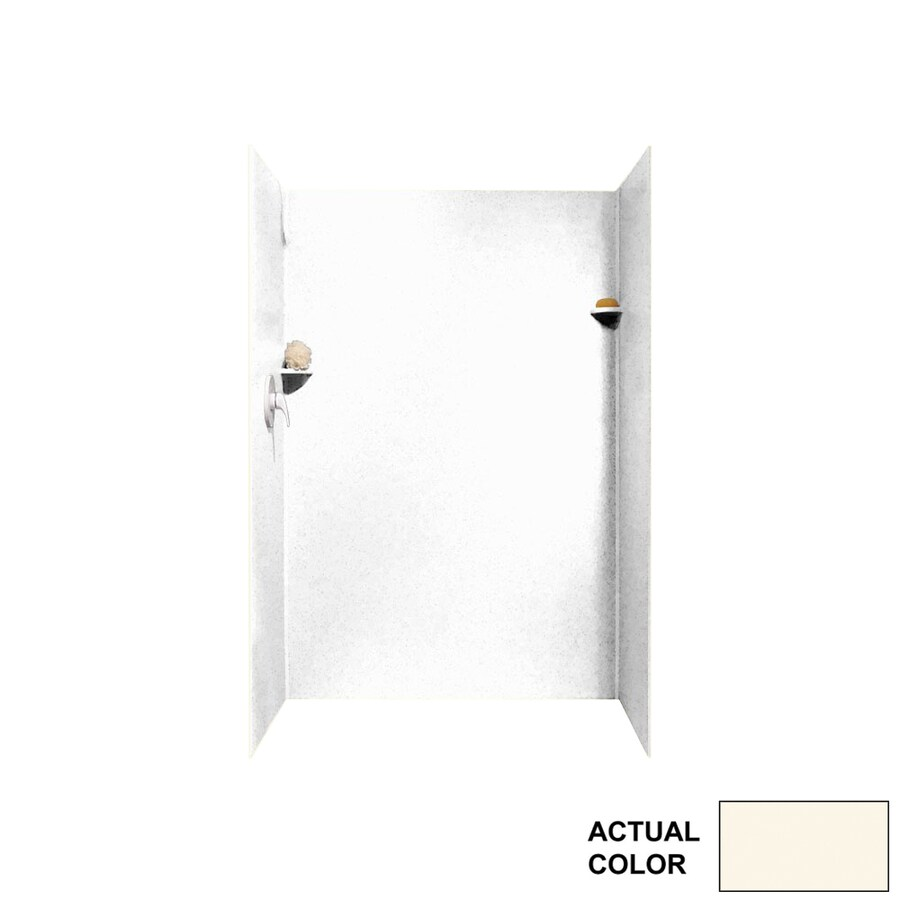 Swanstone Pearl Shower Wall Surround Side and Back Panels (Common: 34-in x 34-in; Actual: 72-in x 34-in x 34-in)