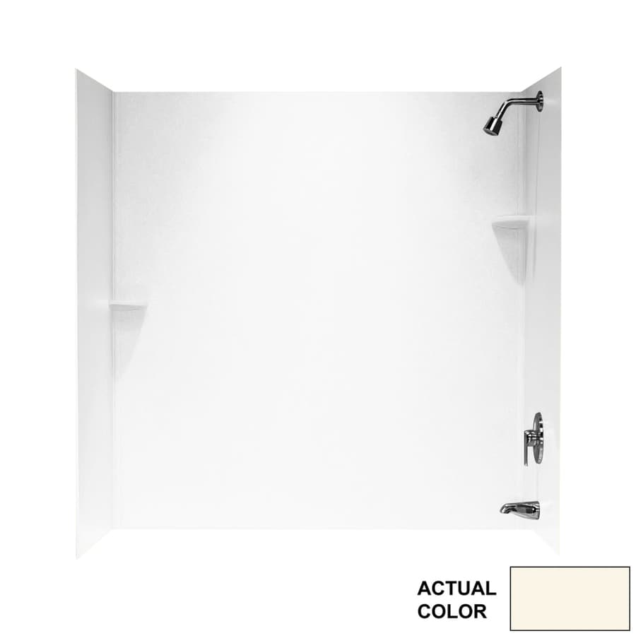 Swanstone Pearl Solid Surface Bathtub Wall Surround (Common: 30-in x 60-in; Actual: 72-in x 30-in x 60-in)
