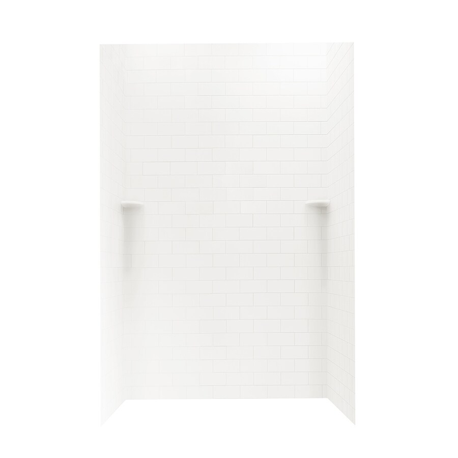 Swanstone Bright White Shower Wall Surround Side and Back Panels (Common: 48-in x 36-in; Actual: 72.5-in x 48-in x 36-in)