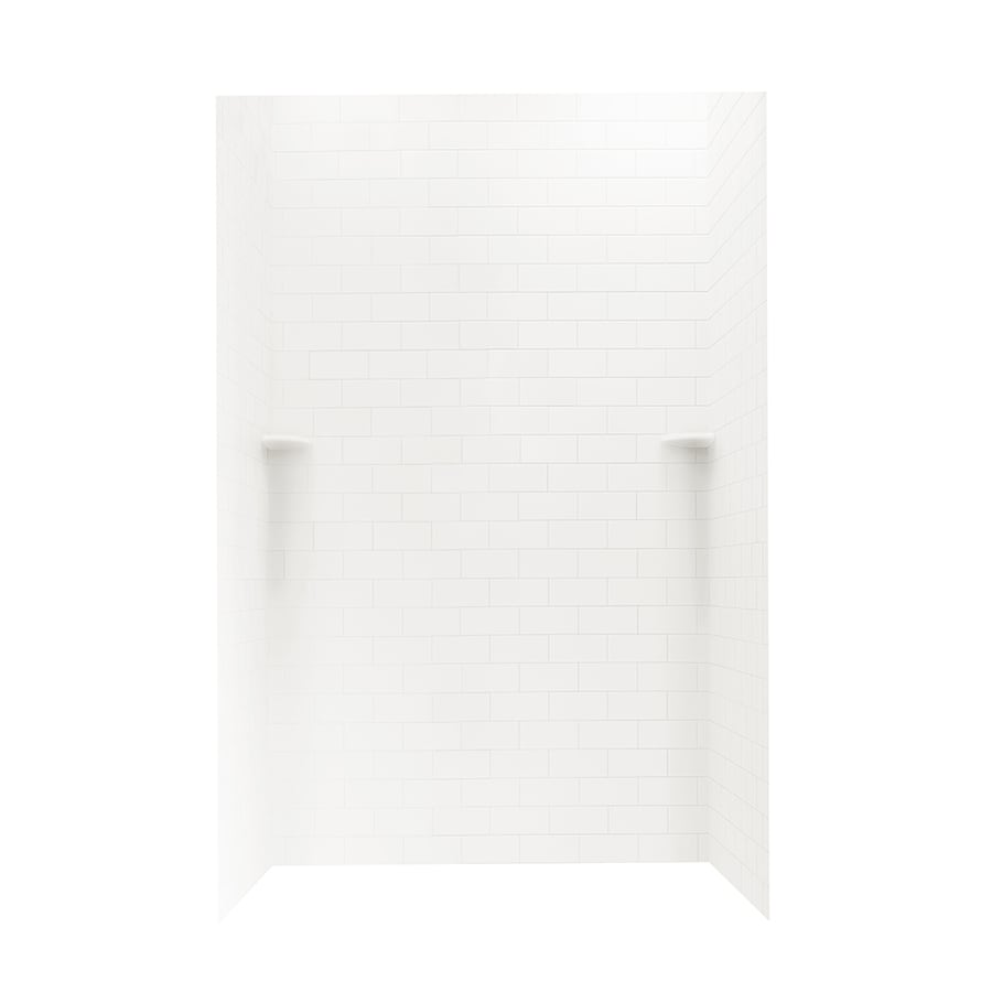 Swanstone Bright White Shower Wall Surround Side And Back Wall Kit (Common: 48-in x 36-in; Actual: 72.5-in x 48-in x 36-in)