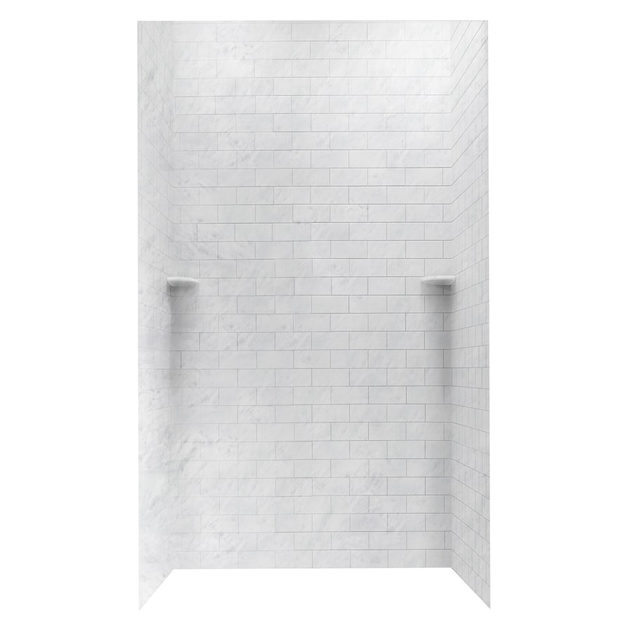 Shop Swanstone Tundra Solid Surface Shower Wall Surround Side and ...