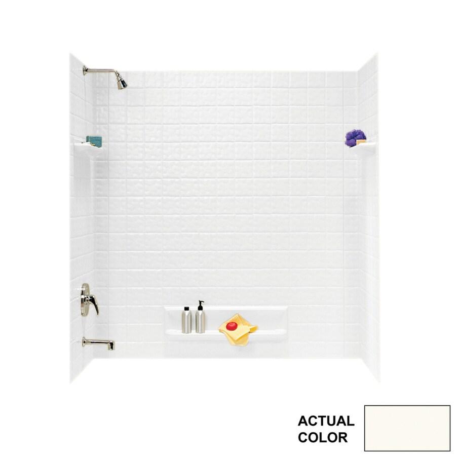 Swanstone Bright White Fiberglass/Plastic Composite Bathtub Wall Surround (Common: 60-in x 32-in; Actual: 59.625-in x 60-in x 32-in)