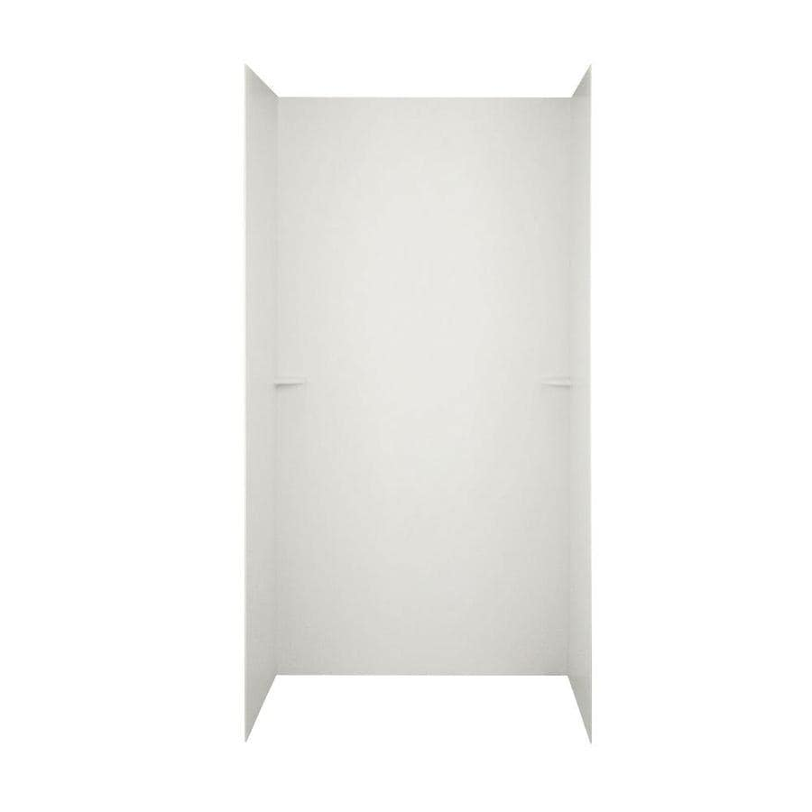 Swanstone Bisque Shower Wall Surround Side and Back Walls (Common: 48-in x 36-in; Actual: 72-in x 48-in x 36-in)