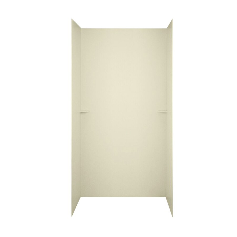 Swanstone Bone Shower Wall Surround Side and Back Walls (Common: 48-in x 36-in; Actual: 72-in x 48-in x 36-in)