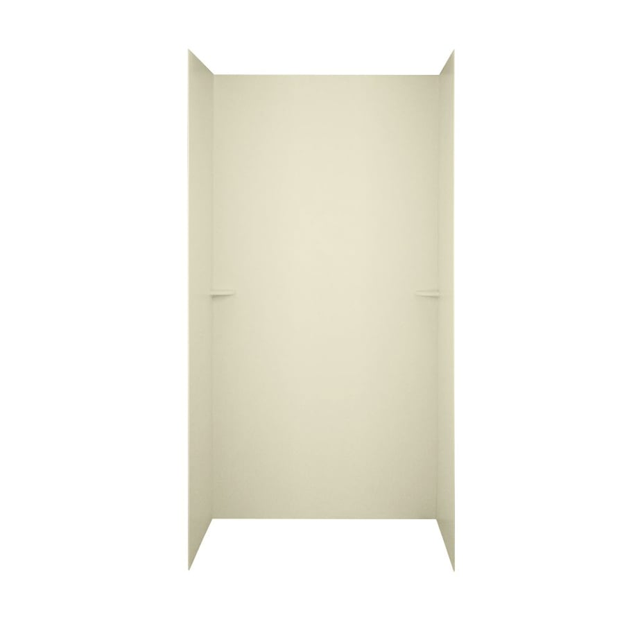 Swanstone Bone Shower Wall Surround Side And Back Wall Kit (Common: 48-in x 36-in; Actual: 72-in x 48-in x 36-in)