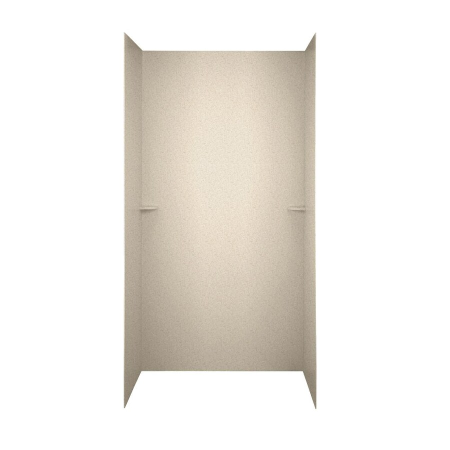Swanstone Almond Galaxy Shower Wall Surround Side and Back Wall Kit (Common: 48-in x 36-in; Actual: 72-in x 48-in x 36-in)