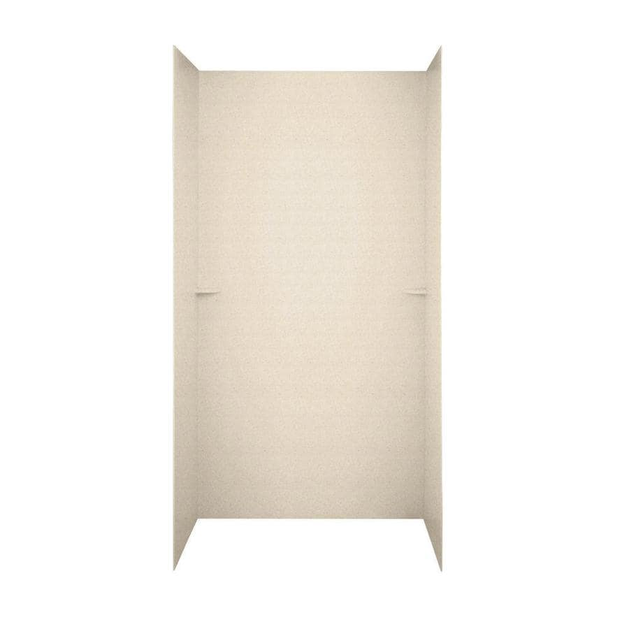 Swanstone Tahiti Sand Shower Wall Surround Side and Back Walls (Common: 48-in x 36-in; Actual: 72-in x 48-in x 36-in)