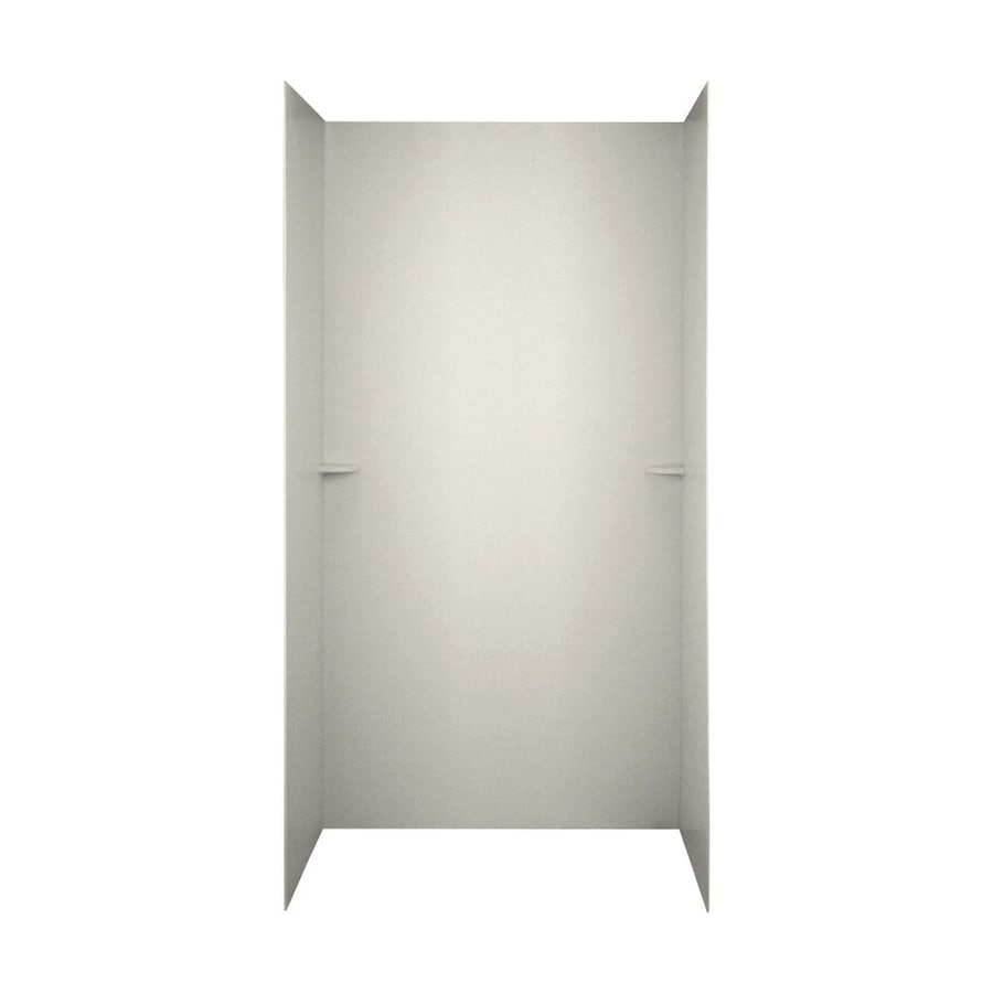 Swanstone Glacier Shower Wall Surround Side and Back Wall Kit (Common: 48-in x 36-in; Actual: 72-in x 48-in x 36-in)