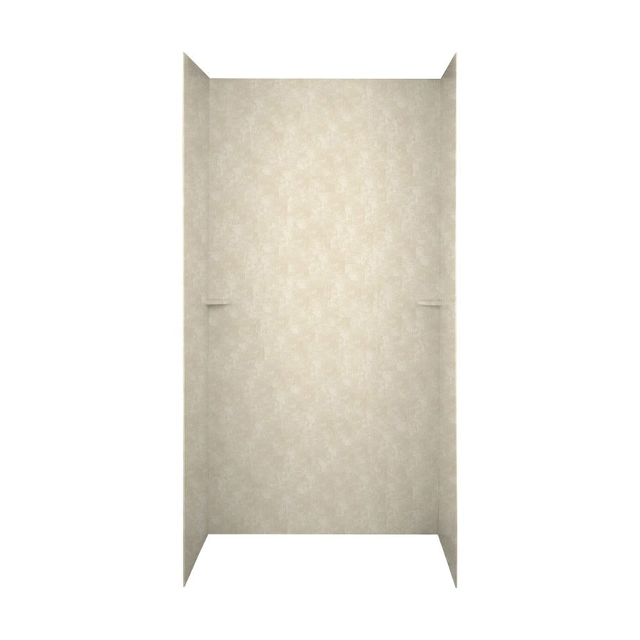 Swanstone Cloud Bone Shower Wall Surround Side and Back Wall Kit (Common: 48-in x 36-in; Actual: 72-in x 48-in x 36-in)