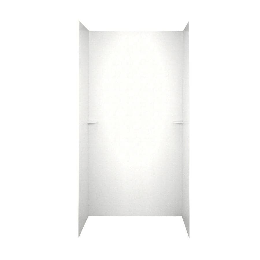 Swanstone Tahiti White Shower Wall Surround Side and Back Walls (Common: 60-in x 36-in; Actual: 72-in x 60-in x 36-in)