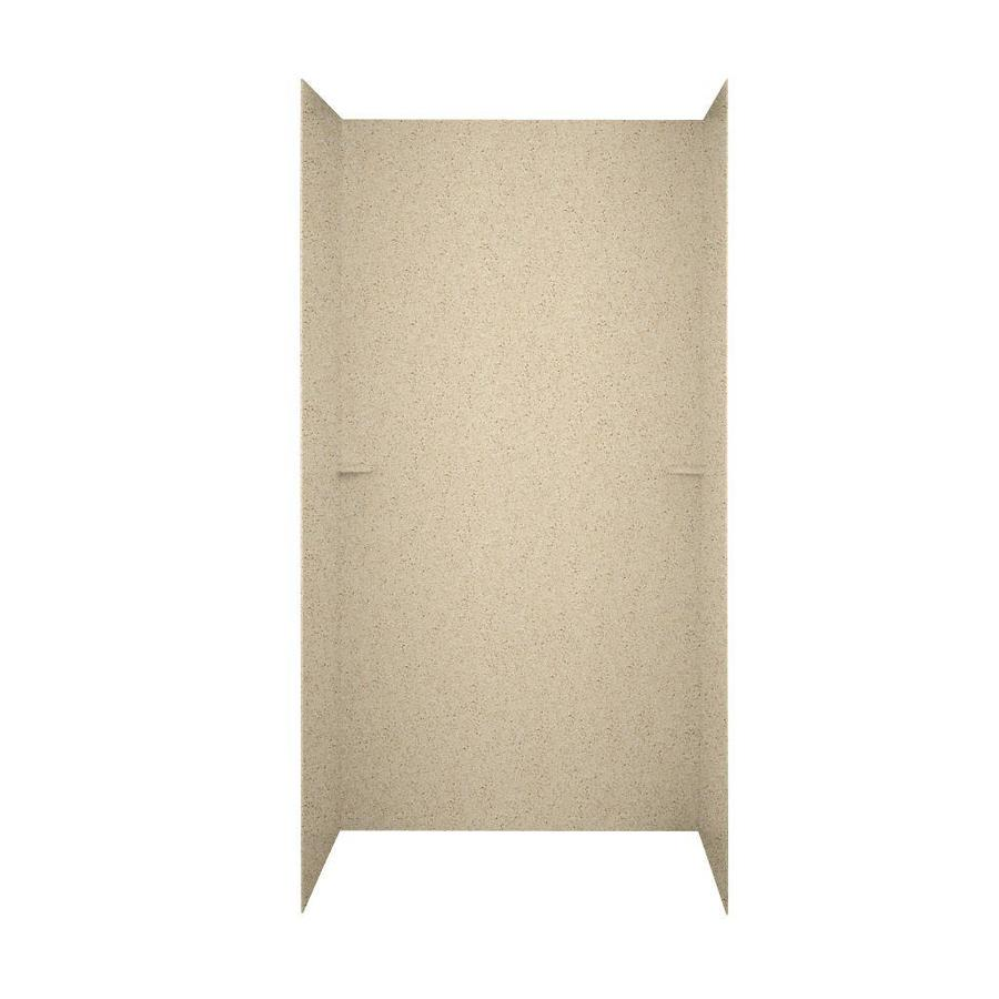 Swanstone Bermuda Sand Shower Wall Surround Side and Back Walls (Common: 60-in x 36-in; Actual: 72-in x 60-in x 36-in)