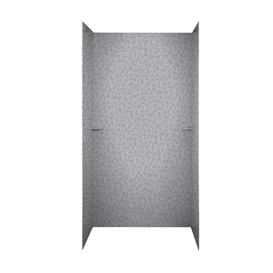 Swanstone Gray Granite Shower Wall Surround Side And Back Wall Kit (Common: 60-in x 36-in; Actual: 72-in x 60-in x 36-in)