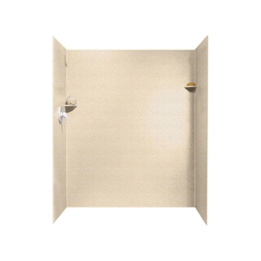 Swanstone Tahiti Sand Shower Wall Surround Side and Back Walls (Common: 60-in x 36-in; Actual: 72-in x 60-in x 36-in)