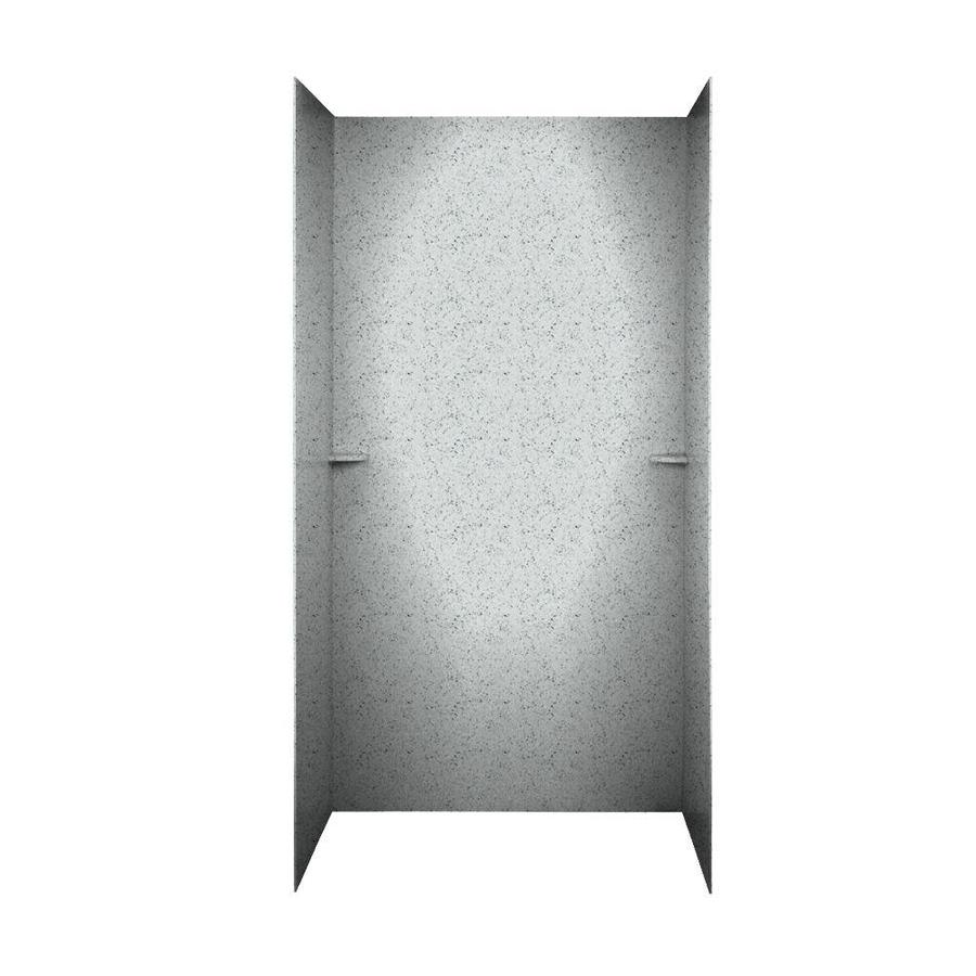 Swanstone Tahiti Gray Shower Wall Surround Side and Back Walls (Common: 60-in x 36-in; Actual: 72-in x 60-in x 36-in)