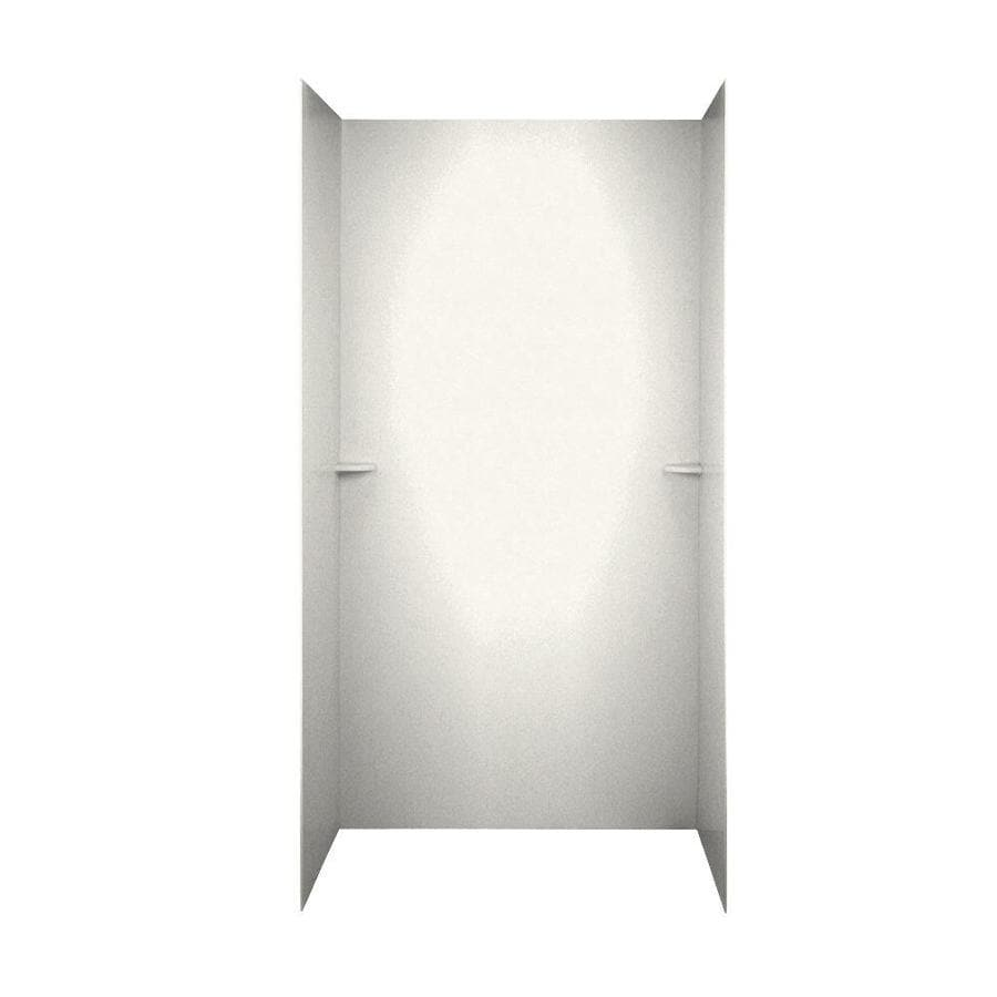 Swanstone Tahiti Ivory Shower Wall Surround Side and Back Wall Kit (Common: 60-in x 36-in; Actual: 72-in x 60-in x 36-in)