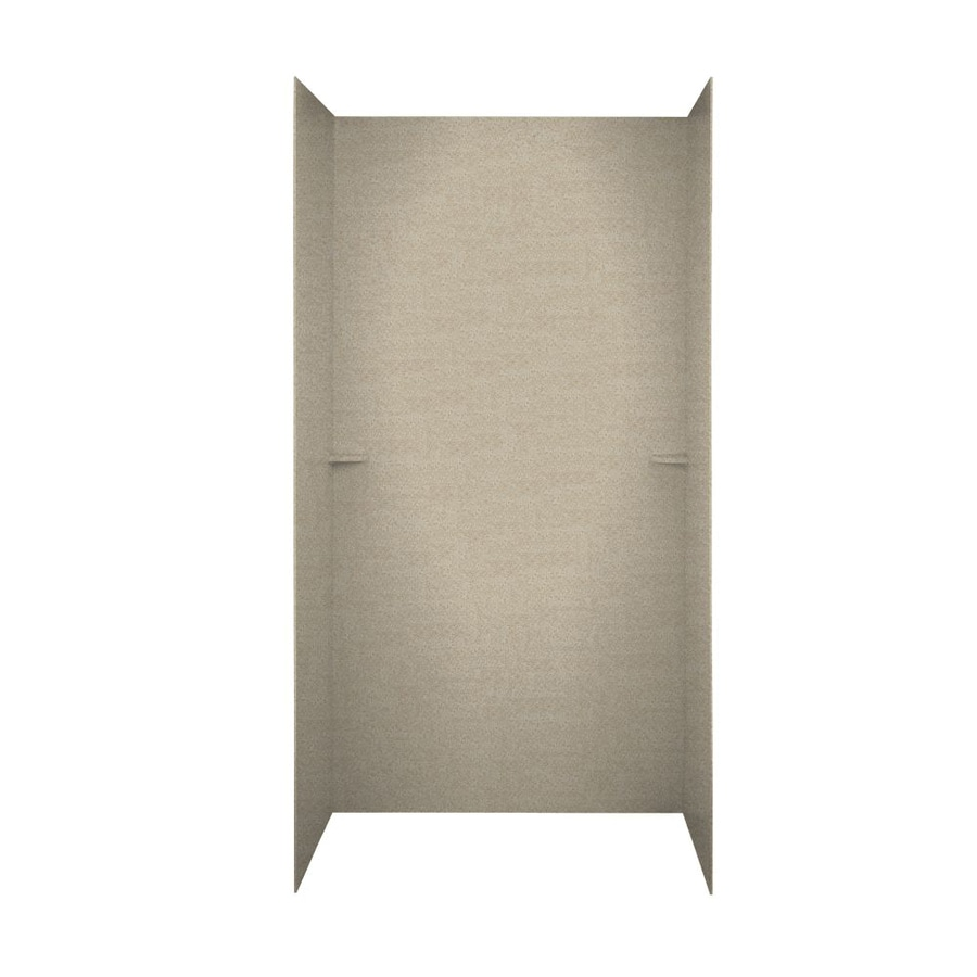 Swanstone Winter Wheat Shower Wall Surround Side and Back Walls (Common: 60-in x 36-in; Actual: 72-in x 60-in x 36-in)