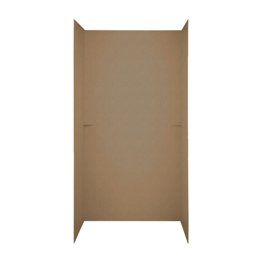 Swanstone Barley Shower Wall Surround Side and Back Walls (Common: 60-in x 36-in; Actual: 72-in x 60-in x 36-in)