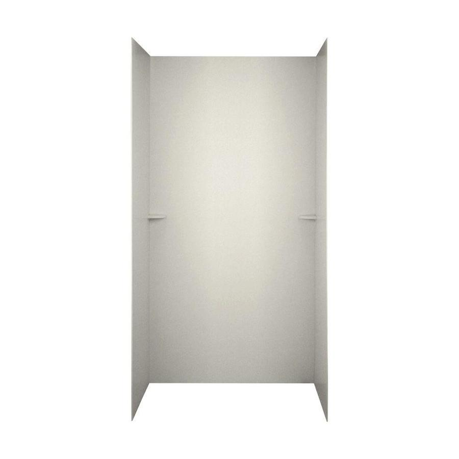Swanstone Glacier Shower Wall Surround Side And Back Wall Kit (Common: 60-in x 36-in; Actual: 72-in x 60-in x 36-in)
